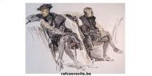 Aquarel uit het Prentenkabinet Raf Coorevits © 2018 Raf Coorevits, http://rafcoorevits.be