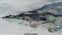 Dordogne, Frankrijk, Aquarel uit het Prentenkabinet Raf Coorevits © 2018 Raf Coorevits, http://rafcoorevits.be